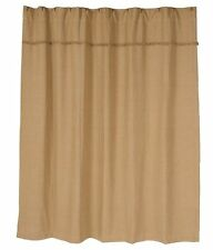 BURLAP NATURAL SHOWER CURTAIN : PRIMITIVE BEIGE BROWN TAN COUNTRY