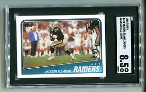 1988 Topps Bo Jackson All-Alone RC #325 SGC 8.5 NM-MT+ RAIDERS