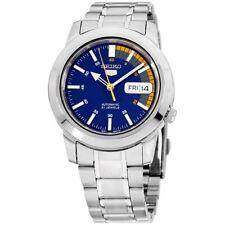 Seiko 5 Blue Dial Stainless Steel Men's Watch SNKK27