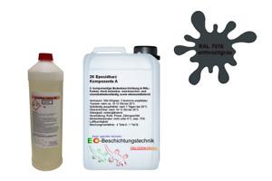 ✅ 20kg 2K Epoxidharz Bodenbeschichtung Bodenfarbe Keller Garage Epoxid Werkstatt