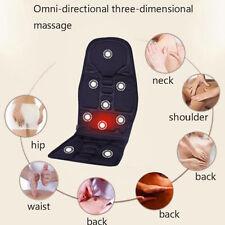 Auto Seat Heat Massage Back Chair Cushion Pad Pain Lumbar Neck Shoulder Massager