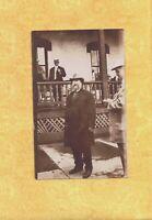 MI Marquette area 1911 RPPC real photo postcard Men posing to Grand Rapids Mich
