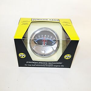 Mooneyes Half Sweep Tachometer - For 4, 6 or 8 Cylinder Engines- Moon Tach