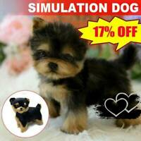 Yorkie Dog Cute Handmade Simulation Toy Dog Puppy Christmas Gifts UK
