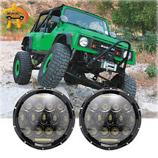 For Suzuki Samurai SJ410 7'' Round LED Headlights Hi/Lo Beam Projector Headlight