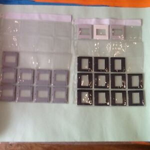 PHOTOGRAPHIC-35ml-23 x GLASS SLIDES-ASSORTED-BLANK-VINTAGE PROJECTOR-PERFECT-VGC
