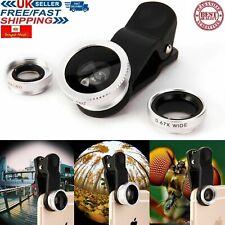 3 In 1 Universal Samsung iPhone Fisheye Fish Eye Wide Angle Macro Clip Lens Set