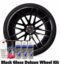 Performix Plasti Dip Matte Black Glossifier Deluxe Wheel Kit Combo Spray Cans