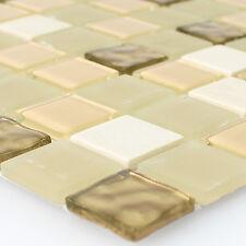 MUSTER Mosaikfliesen Selbstklebend Naturstein Glas Gold