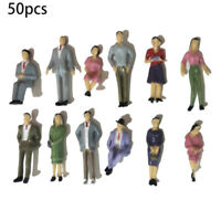 50pcs Scene Layout People Figures Painted Plastic Model Decoration  1:32 Scale