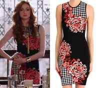 NWT CLOVER CANYON knit Houndstooth floral wine sleeveless dress size S - $297