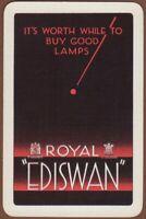Playing Cards 1 Single Card Old ROYAL EDISWAN LAMPS Lightbulb Advertising Art