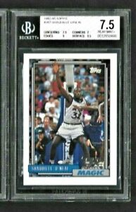 1992 Topps Shaquille O' Neal #362 Rookie BGS 7.5 Averages over a 8.0  WOW Magic!