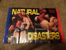 HULK HOGAN & NATURAL DISASTERS TYPHOON wrestling DOUBLE-SIDED POSTER wwf 32X21