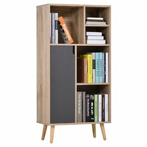 Particle Board Elevated 6 Compartment Storage Unit Cabinet Modern Furniture Room