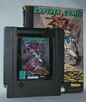 Captain Comic Cartridge + Box + Sleeve NES Nintendo Game Authentic Tested Good