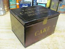 tobacco tin FAMOUS CAKE BOX MIXTURE HINGED LID Liavitt & Peirce USA VINTAGE CAN