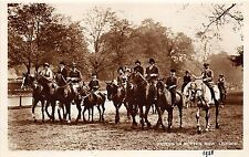 B85979 horse riders in rotter row   london uk