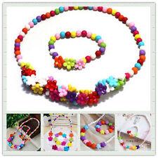 2PCS /set Lovely Plastic Colorful Cartoon Children Necklace + Bracelet for Kids