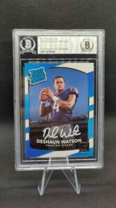 DESHAUN WATSON 2017 Donruss RC White Ink AUTO BGS AUTHENTIC