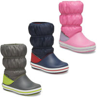 Crocs Kids Crocband Winter Boots Boys Girls Water Resistant Pull On Rain Shoes