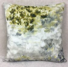 """Clarke & Clarke """"FIORE""""  Fabric in Charcoal Chartreuse Cushion Cover 17"""" Velvet"""