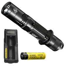 NITECORE P12GTS 1800 lm LED Tactical Flashlight + Premium Battery & Charger