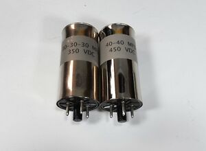 Collins R-390A Receiver NEW Chassis Mounted Capacitor Can Set of (2)