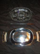 KROMEX platter & glass plate tray fork Vintage 1974 server giftware appetizer
