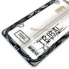 Tribal Design Plastic Chrome License Plate Tag Frame for Auto-Car-Truck