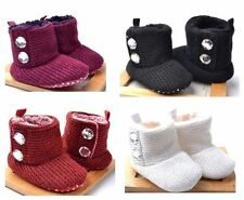 New Soft Sole Baby Girls CRYS Bttn Fall-Winter Bootees Crib Shoes. Age 3-18 Mths