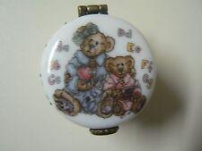 Boyds Bears Le Bearmoge Porcelain Box Ms. Bruin & Bailey The Lesson Teacher Gift