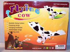 BATTERY OPERATED FLYING COW toy cows animals toys funny b/o cow farm animals new