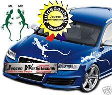 AUDI GECKO AUTOCOLLANT Tatouage auto étiquette 70x30cm ml ou Mr couleur au choix