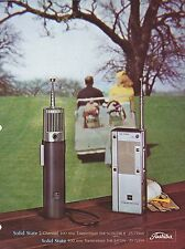 VINTAGE AD SHEET #2844 - 1970s TOSHIBA - SOLID STATE 100 MW TRANSCEIVER