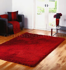 Flair Rugs Santa Cruz Shaggy Summertime Round Rug Red 180 Cm