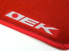 VMS 96-00 CIVIC 3DR EK9 HATCH DX CX RED FLOOR MATS CUSTOM FIT INTERIOR CARPETS