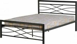 Kelly Black Metal Bed Frame - 2 Sizes Available *BRAND NEW*