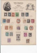 More details for lot:39575  india stamp collection from british empire possession from 1851 and b