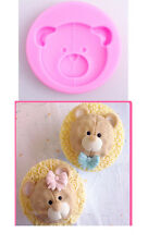 3D Cute Bear Head Silicone Mold Cake Fondant Chocolate Baking Mould Decorating