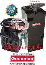 2.5 ton 14 SEER HEAT PUMP 410 Goodman GSZ14030+ARUF31B14+25ft LineSet+Tstat+Heat