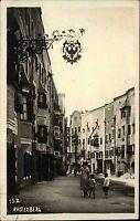 Rattenberg Tirol Österreich s/w Echtfoto-AK 1929 Straßenpartie in der Stadt