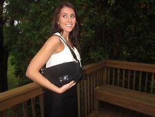 Kate Spade Algonquin SUEDE LEATHER FLAP SHOULDER BAG POSH RICH BLACK