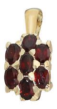 Schöner Anhänger Gold 585 mit Granaten - Granatanhänger - Goldanhänger Granat