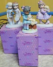 3 Vintage Enesco Sisters & Best Friends  Figurines 1992