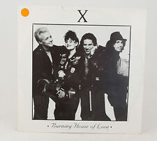 """X Burning House of Love 12"""" Single Record w/Love Shack & Wild Thing"""