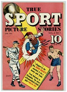 True Sport Picture Stories V.2#1 Baseball Boxing 1943 Street & Smith (j#2122)