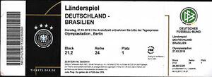 Ticket 27.03.2018 Deutschland - Brasilien in Berlin