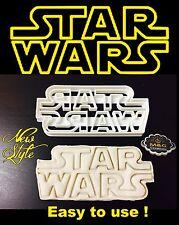 Large Star Wars Logo Uk Seller Plastic Biscuit Cookie Cutter Fondant Cake Decor