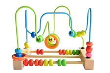 New Kids Educational Baby Racking Game With Wooden Beads Pre School Learning